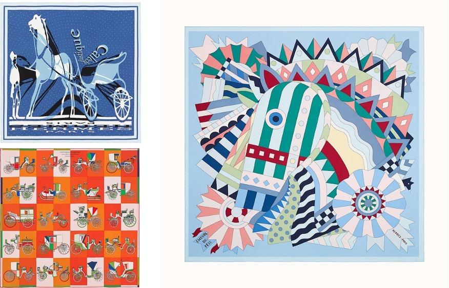 horse motif hermes スカーフ購入link